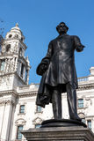 LONDON - MAR 13 : Statue of Viscount Palmerston in Parliament Sq Stock Image