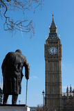 LONDON - MAR 13 : Statue of Winston Churchill in Parliament Squa. Re London on Mar 13, 2016 Stock Image