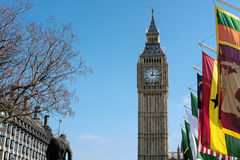 LONDON - MAR 13 : View of Big Ben across Parliament Square in Lo Stock Image