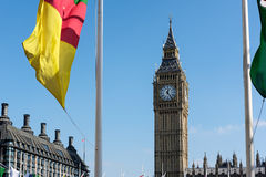 LONDON - MAR 13 : View of Big Ben across Parliament Square in Lo Stock Photography