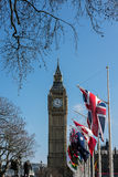 LONDON - MAR 13 : View of Big Ben across Parliament Square in Lo Royalty Free Stock Photos