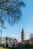 LONDON - MAR 13 : View of Big Ben across Parliament Square in Lo Stock Photo