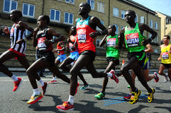 London-Marathon 2011, Emmanuel Mutai Stockbild