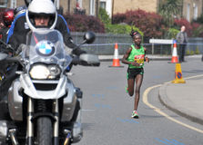 London Marathon 2011,Mary Keitani Royalty Free Stock Photography