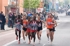 London marathon 2011- top 10 elite men Royalty Free Stock Images