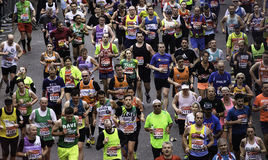 2015, London-Marathon Stockbild