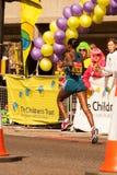 London Marathon Runner. Leaping Lady London Marathon Runner Royalty Free Stock Photos