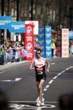 2013 London Marathon. London, UK - April 21, 2013: Disabled runner at London Marathon runners. The London Marathon is next to New York, Berlin, Chicago and Royalty Free Stock Photos