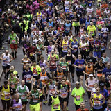 2015, London Marathon Stock Photo