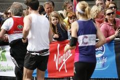 2013 London Marathon. London, UK - April 21, 2013: Supporters watch and cheer thousands of marathon runners. The London Marathon is next to New York, Berlin Stock Photos
