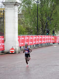 London marathon winner 2010. London marathon winner TSEGAYE KEBEDE running the last 200 metres to the finishing line Royalty Free Stock Image