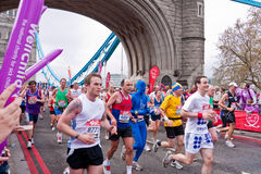 london maraton Royaltyfri Foto