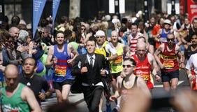 London maraton 2013 Arkivfoton