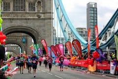London maraton Royaltyfri Foto