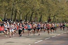london maratonoskuld Arkivfoto