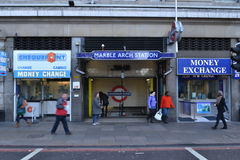 London Marble Arch underground station entrance Stock Photo