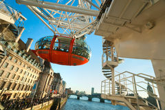 LONDON - MARCH 19 : The London Eye. Stock Images