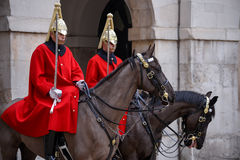 LONDON - MARCH 6 : Lifeguard of the Queens Household Cavalry on Stock Image