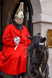 LONDON - MARCH 6 : Lifeguard of the Queens Household Cavalry on Stock Photography
