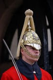 LONDON - MARCH 6 : Lifeguard of the Queens Household Cavalry on Stock Images