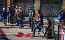 London marknad Fotografering för Bildbyråer