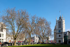 LONDON - MARS 13: Sts Margaret kyrka bredvid den Westminster abbotskloster Arkivbild