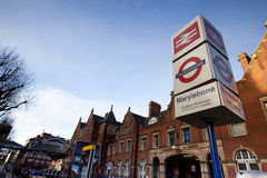 London Marylebone drevstation royaltyfria foton