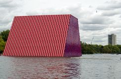 The London Mastaba by Christo, side view royalty free stock photos