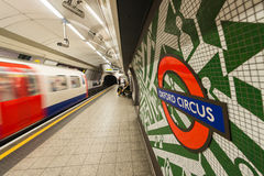 LONDON - MAY 14, 2015: London underground train. London's system Stock Images