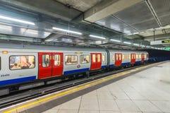 LONDON - MAY 14, 2015: London underground train. London's system Royalty Free Stock Photography