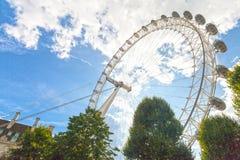 London eye. LONDON - MAY 14: Tourists visit london eye Royalty Free Stock Photo