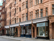 London, Mayfair District Shops Stock Image