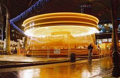 London, Merry go round or  ferry-go-round at night Stock Image