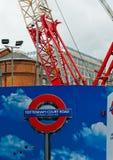 London Metro under construction. London's Tottenham Court Road station under construction Royalty Free Stock Photo