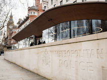 London Metropolitan Police, New Scotland Yard. The recently moved headquarters of the London Metropolitan Police, New Scotland Yard, on its new site on Victoria Stock Photo