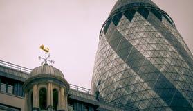 London miasta stary nowoczesnej architektury Fotografia Stock
