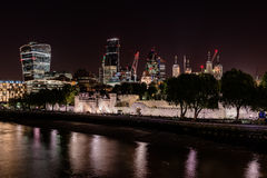 London miasta w nocy Fotografia Royalty Free
