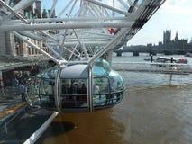 London milleniumöga Förenade kungariket - materielbild Fotografering för Bildbyråer