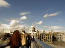 London Millennium Bridge and St Pauls Royalty Free Stock Photos
