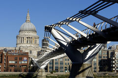 London Millennium Footbridge Stock Photo
