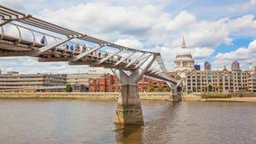 London Millennium Footbridge Royalty Free Stock Photography
