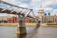 London Millennium Footbridge Stock Image