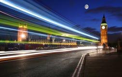 london månsken över Royaltyfri Bild