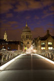 London - modern bridge and st. Pauls cathedral Royalty Free Stock Photo