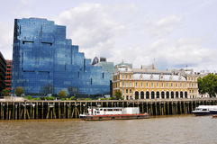 London modern building and Thames river Stock Photo
