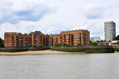 London modern building and Thames river Royalty Free Stock Images