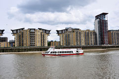 London modern building and Thames river Royalty Free Stock Image