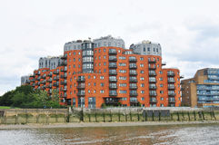 London modern building and Thames river Stock Photos