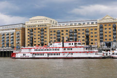 London modern building and Thames river Stock Photography