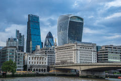 London Modern. Modern London with Cheesegrater, Gherkin and Walkie-Talkie Royalty Free Stock Photos